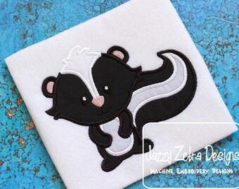 Skunk Applique embroidery Design - skunk Applique Design