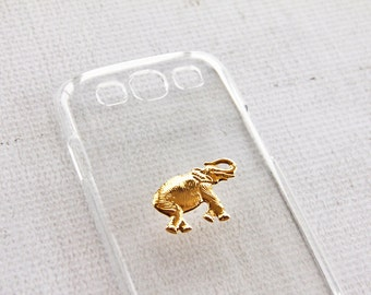 Elephant Case Phone Cell Phone Cover Clear Transparent Gold African Animal Triba Tribe Simple Her Party Favors iPhone 7 Case