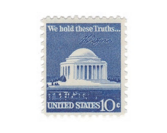 10c Jefferson Memorial // 1973 Vintage Unused Postage Stamps // Set of 10 // No. 1510