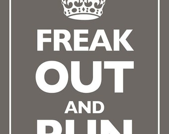 Keep Calm and Carry On Parody Brown - Giclee Print