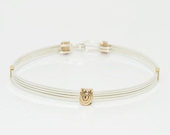 The Madison Stackable Bracelet \ Gold and Silver Stackable Bracelet \ Gold and Silver Bangle \ Gold Cuff Jewelry