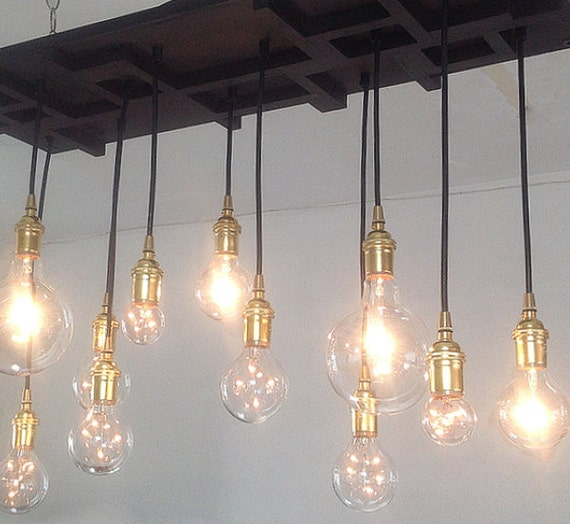 Cluster pendant light modern chandelier by for Modern craftsman lighting