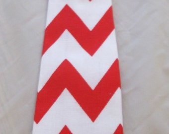 Baby Boy/ Toddler Red Chevron Tie.  It will fit a baby to a 2 year old.