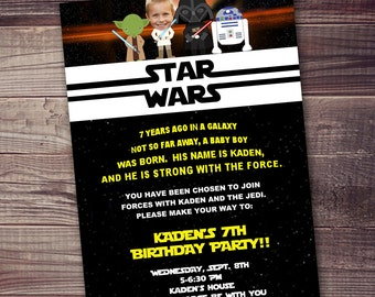 Fast customized star wars invitation the force awakens fast ship star wars invitation free customization picturewording starwars invitation stopboris Choice Image