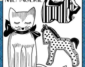 Menagerie Vintage Pattern INSTANT DOWNLOAD