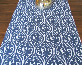 TABLE RUNNER 12 x 48 NAVY Blue Table Runners Wedding Showers Decorative Navy Holiday Table Runner Housewares Home and Living 48 60 72 84 96
