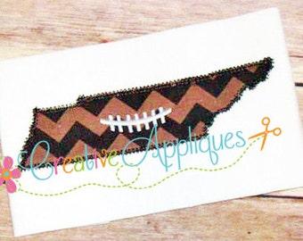 Tennessee Football Digital Machine Embroidery Applique Design 4 Sizes, Tennessee applique, football applique, Tennessee embroidery