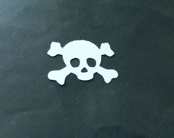 Boy Pirate Skull & crossbones die cuts, paper cardstock embellishments for DIY craft projects 2 x 1.5 inch 50 x 35 mm pick count and color