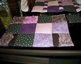 Quilted Placemats, Purple