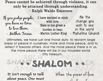 Peace Quotes Poster - Customizable
