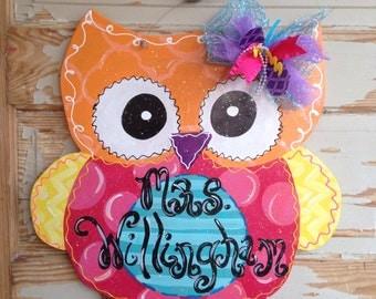 Super Cute Owl Door Hanger