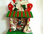 Vintage Santa and Puppet Music Box Marionette