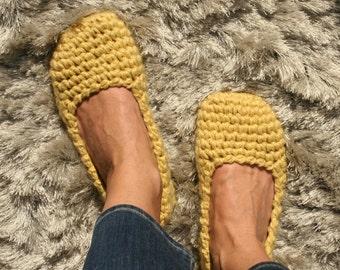 EllenaKnits crochet slippers