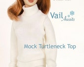 Sewing pattern for 11 1/2 inch fashion dolls: Mock Turtleneck Top