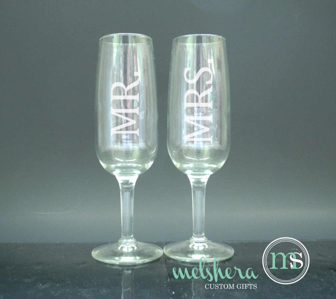 Mr mrs wedding toasting flutes unique toasting by melshera - Unusual champagne flutes ...