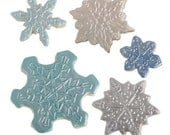Snowflakes Cookie Cutter Texture Sheet Set - Perfect for Christmas Parties!