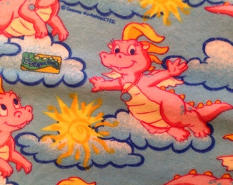 Popular items for dragon tales on etsy for Dragon fabric kids