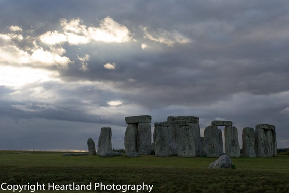 Large Sized Print, Stonehenge Photo, UK Landscape, Stonehenge England, Stonehenge Pictures, British Photography, Cloudy Landscape, Travel