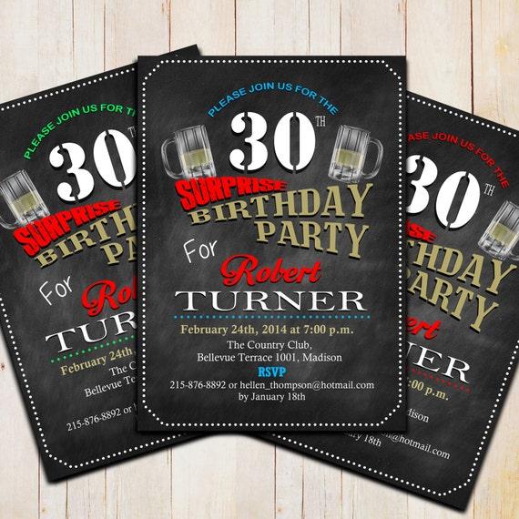 Items Similar To Surprise 30th Birthday Invitation / DIY