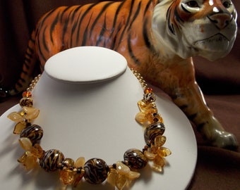 Artisan Lampwork Bead Necklace