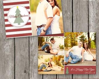 Christmas Template - Christmas Photo Card - Holiday Card for Photographers - CC23
