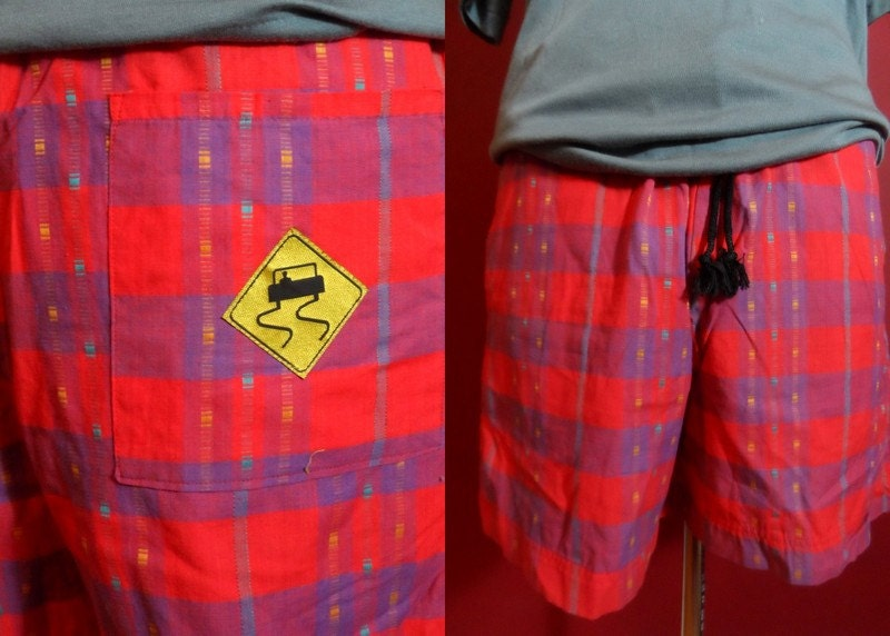 rare skidz deadstock shorts 80s 90s mens size medium swim