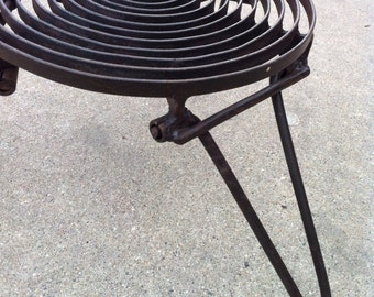 Spiral Folding Grill Grate For Camping - rugged industrial design - 2 Sizes - Outdoor Cooking