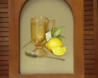 Painted Lemon Tea Cabinet
