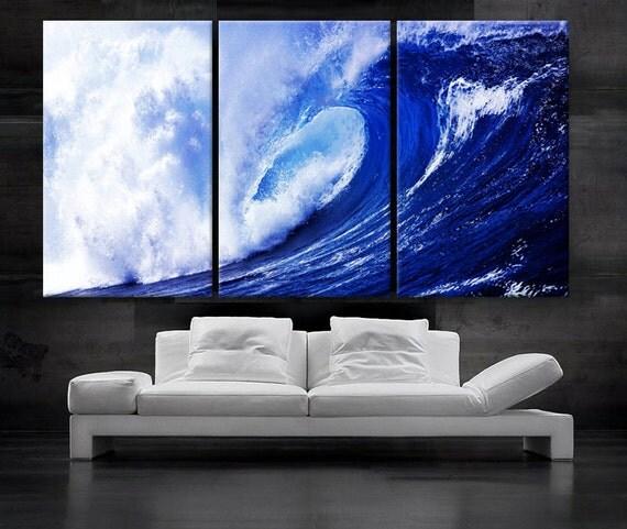 Large 30x 60 3 Panels Art Canvas Print Beach Ocean By