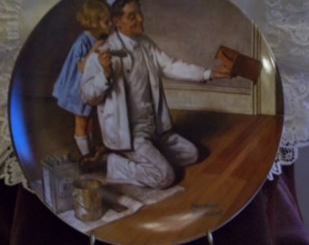 Knowles Rockwell Heritage Collection, Plate 7: The Painter Collector Plate