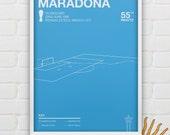Diego Maradona vs England Giclee Print