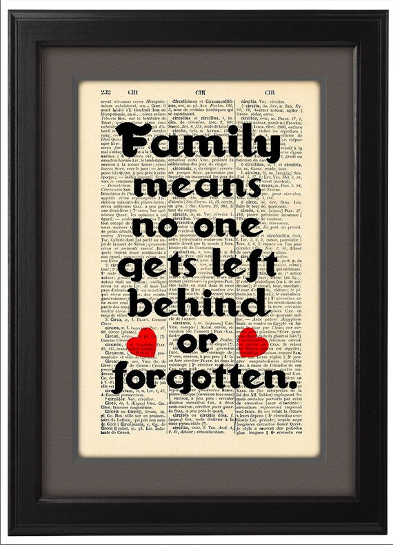 Family Quote, David Ogden Stiers quote,Typographic print, Dictionary Pages, Book pages, Dorm decor, Home Decor, Gift, CODE/126