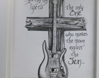 Guitar and a Cross