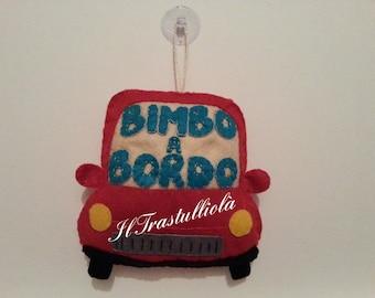 """Felt car """"baby on board"""""""