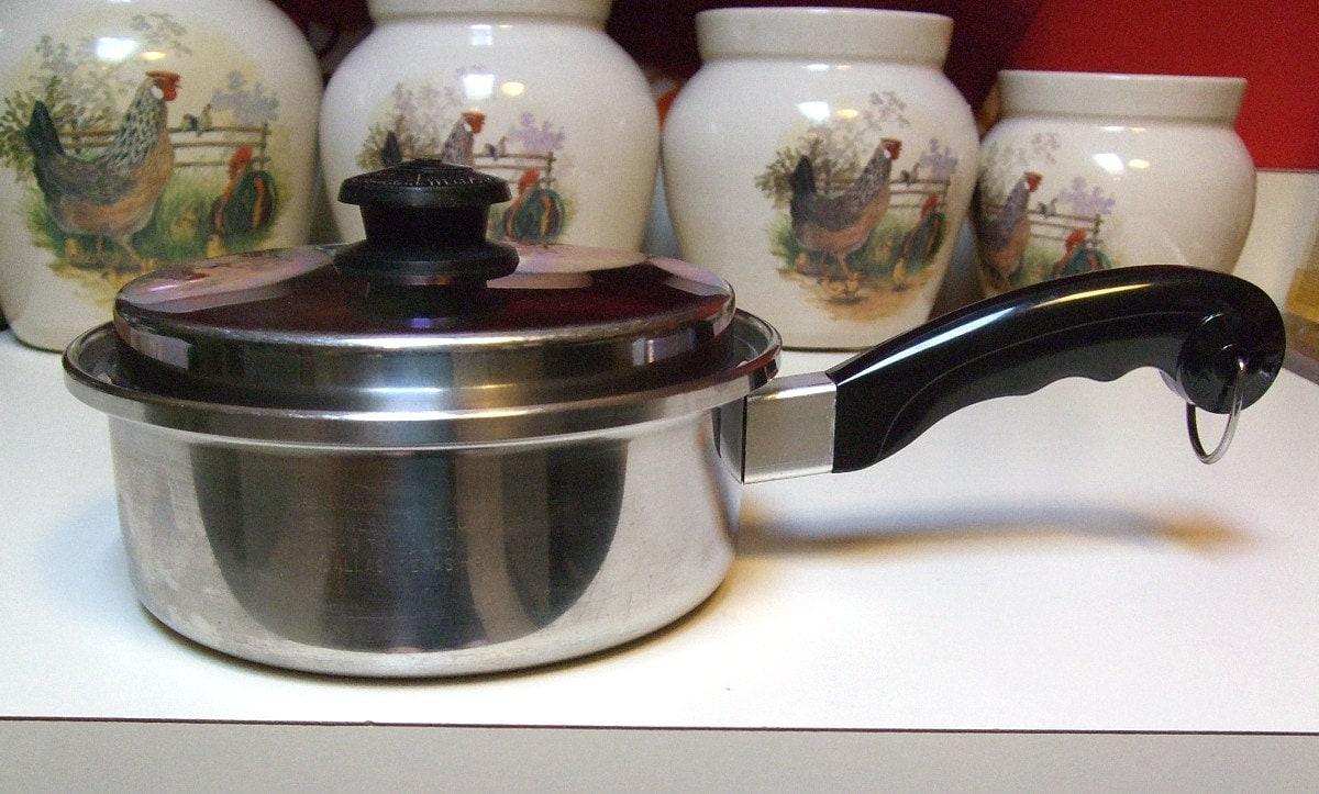 Vintage Saladmaster Two Quart Sauce Soup Pan Original Vapo Lid