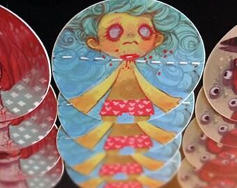 guro /// illustration stickers