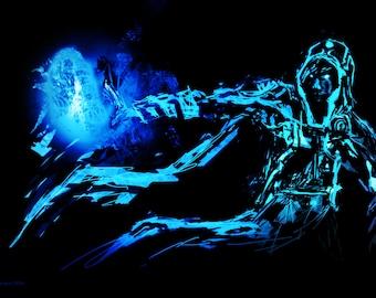 Jace Beleren, Planeswalker - Magic The Gathering- MTG - Digital Painting