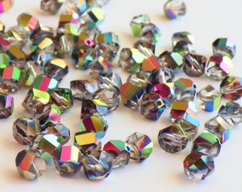 Vintage Swarovski Crystal Beads, Article 38 Also Known As Article 5006, 6mm Crystal Beads, 20 Vintage Crystal Beads