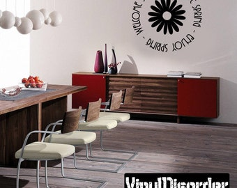Welcome Spring - Vinyl Wall Decal - Wall Quotes - Vinyl Sticker - Hd084ET