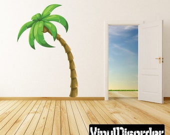Palm Tree Wall Decal   Wall Fabric   Vinyl Decal   Removable And Reusable    PalmTreeUScolor001ET