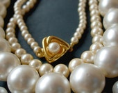 Destash jewelry - vintage faux pearl necklaces for your crafts