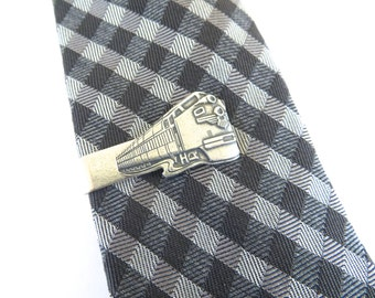 Train Tie Clip- Train Tie Bar- Groomsmen Gift