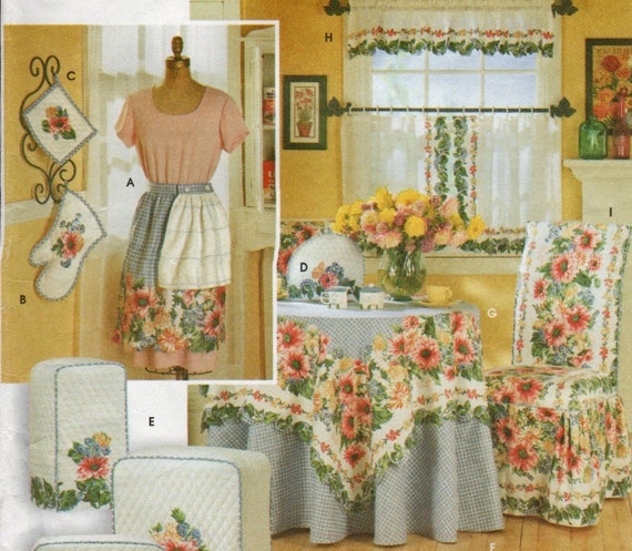 Kitchen Curtains Patterns: Kitchen Apron Curtains And Appliance Covers Pattern Donna Lang