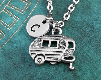 Trailer Necklace, Personalized Necklace, Trailer Pendant, Custom Necklace, RV Charm Necklace, Caravan Jewelry, Camper Necklace, RV Necklace