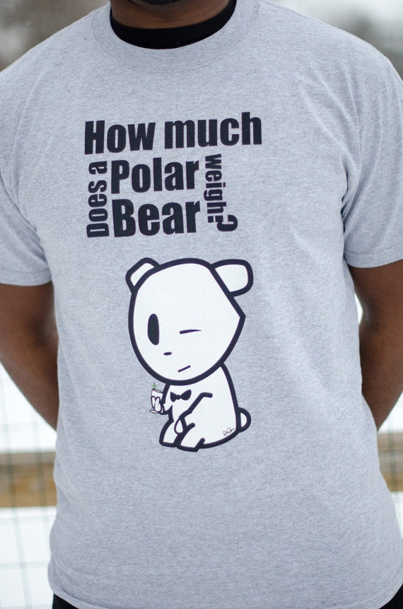 Polar bear pick up line tshirt how much does a by for How much is a shirt