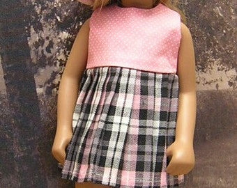 2-piece Plaid Dress Set to fit 17 inch Sasha dolls