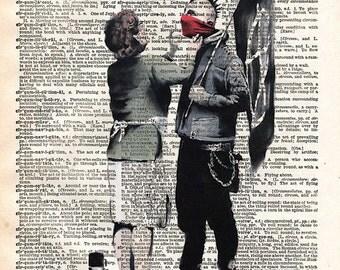 Punk Mum banksy art - punk mom anarchy print - dictionary art print