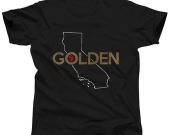 San Francisco T-Shirt -  Sizes Small-3X -- Golden - (Please see SIZING CHART in Item Details)