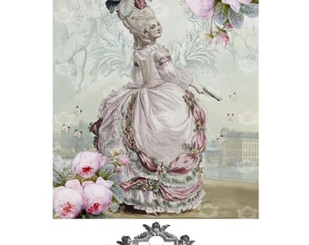 CÉLESTE, a Wickedly Lovely, Marie Antoinette inspired, blank greeting card
