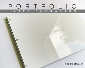 LASER ENGRAVING - UPGRADE Engrave my design on my portfolio (this listing is for engraving services only – does not include portfolio)